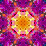 Extracto Mandala Background floral colorida de la pintura de Digitaces stock de ilustración