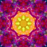 Extracto Mandala Background floral colorida de la pintura de Digitaces libre illustration