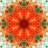 Extracto Mandala Background floral colorida de la pintura de Digitaces ilustración del vector