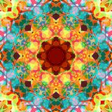 Extracto Mandala Background floral colorida de la pintura de Digitaces libre illustration
