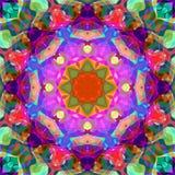 Extracto Mandala Background floral colorida de la pintura de Digitaces ilustración del vector