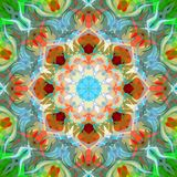 Extracto Mandala Background floral colorida de la pintura de Digitaces fotografía de archivo