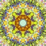 Extracto Mandala Background floral colorida de la pintura de Digitaces fotografía de archivo libre de regalías
