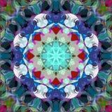 Extracto Mandala Background floral colorida de la pintura de Digitaces imagen de archivo libre de regalías