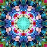 Extracto Mandala Background floral colorida de la pintura de Digitaces imagenes de archivo