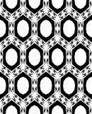 Extracto, modelo inconsútil blanco y negro Imágenes de archivo libres de regalías