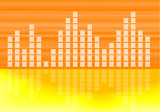Extracto musical del gráfico del volumen Fotografía de archivo libre de regalías