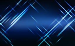 Extracto, neón azul de la tecnología que brilla intensamente ejemplo del vector del fondo del efecto luminoso brillante, ilustración del vector