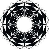 Extracto negro un modelo blanco Fotos de archivo libres de regalías