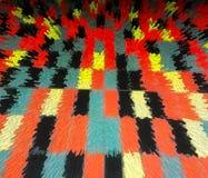 Extracto negro y anaranjado de los rectángulos Fotografía de archivo libre de regalías