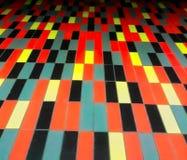 Extracto negro y anaranjado de los rectángulos Imagen de archivo