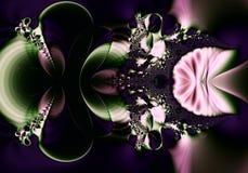 Extracto oscuro del fractal stock de ilustración