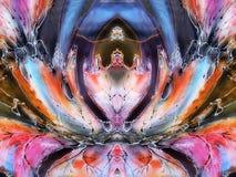Extracto pintado colorido Fotografía de archivo
