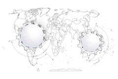 Extracto político del mapa del mundo Fotos de archivo