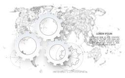Extracto político del mapa del mundo Foto de archivo