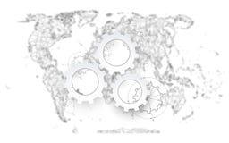 Extracto político del mapa del mundo Fotografía de archivo libre de regalías