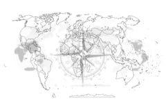 Extracto político del mapa del mundo Imagen de archivo