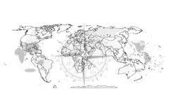 Extracto político del mapa del mundo Imagen de archivo libre de regalías