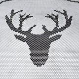 Extracto principal de los ciervos por las tejas en fondos blancos, Imágenes de archivo libres de regalías