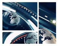 Extracto profundamente azul del globo ilustración del vector