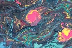 Extracto que vetea el fondo multicolor con los puntos coloridos stock de ilustración
