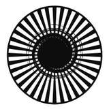 Extracto radial blanco negro Ilustración del Vector