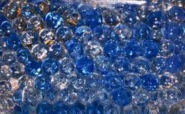 Extracto redondo azul de las burbujas Imagenes de archivo