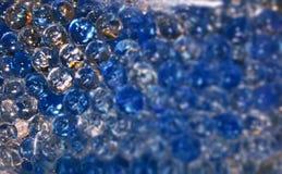 Extracto redondo azul de las burbujas Foto de archivo