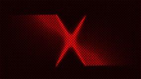 Extracto rojo de la marca de la blanco de x libre illustration