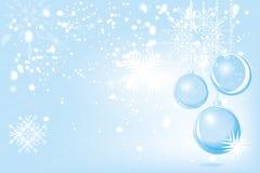Extracto rojo del fondo de Navidad del vector Ornamen de la nieve de la bola de la Navidad stock de ilustración