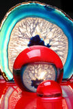 Extracto rojo y azul Foto de archivo