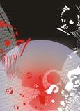 Extracto rojo y negro   Imágenes de archivo libres de regalías