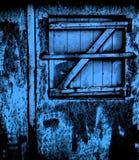 Extracto S azul Abstracción de Z Ventana Imagen de archivo