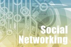 Extracto social del establecimiento de una red Imagen de archivo libre de regalías