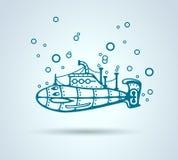 Extracto submarino, stylization, vector Fotografía de archivo libre de regalías