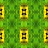 Extracto verde del modelo geométrico Foto de archivo
