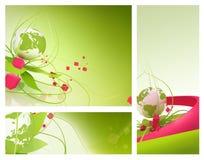 Extracto verde del resorte del globo stock de ilustración