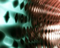 Extracto verde y anaranjado del fondo de la onda acústica Fotografía de archivo