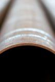 Extracto vertical del tubo de acero Foto de archivo
