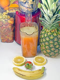 Extractor juice low rpm in working produces fresh juice without Royalty Free Stock Photography