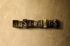 EXTRACTOS - primer de la palabra compuesta tipo vintage sucio en el contexto del metal stock de ilustración