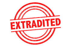 EXTRADITED Rubber Stamp Stock Photo