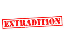 EXTRADITION. Red Rubber Stamp over a white background stock illustration