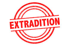 EXTRADITION Rubber Stamp Royalty Free Stock Photos