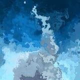 Extrahieren Sie beflecktes Musterhintergrund-Himmelblau mit grauen Wolkenfarben - moderne Malereikunst - Aquarelleffekt vektor abbildung