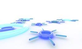 Extrahieren Sie in blaues 3D 01 Stockfotos