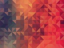 Extrahieren Sie 2D geometrischen colorfull Hintergrund Stockbild