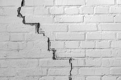 Extrahieren Sie den verwitterten Beschaffenheit befleckten alten hellgrauen Stuck und alterte weißen Backsteinmauerhintergrund de lizenzfreie stockbilder