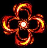 Extrahieren Sie die mysteriösen roten Blumenstrudel in der Dunkelheit Lizenzfreie Stockfotos
