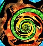Extrahieren Sie farbigen Hintergrund des gewundenen Naturschrittes Stock Abbildung
